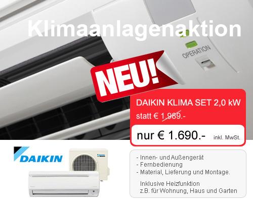 Daikin Split Klimaanlage Angebot, Aktion, Rabatt, Preisnachlass